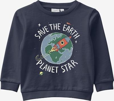 NAME IT Sweatshirt 'Vildar' in saphir / grün / rot / weiß, Produktansicht