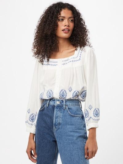 Trendyol Bluse in ecru / blau / weiß, Modelansicht