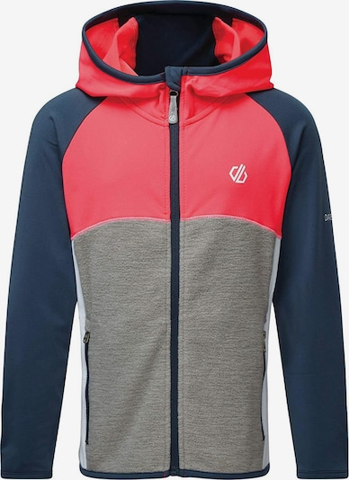 DARE 2B Athletic Zip-Up Hoodie 'Hasty Core Stretch' in marine blue / mottled grey / Neon red / White, Item view
