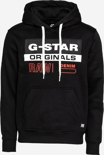 G-Star RAW Sweatshirt in de kleur Donkeroranje / Zwart / Wit, Productweergave