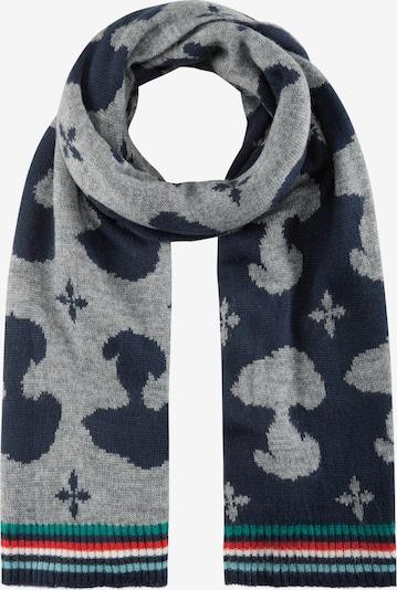 CODELLO Écharpe 'PEANUTS' en bleu marine / bleu clair / gris / rouge / blanc, Vue avec produit