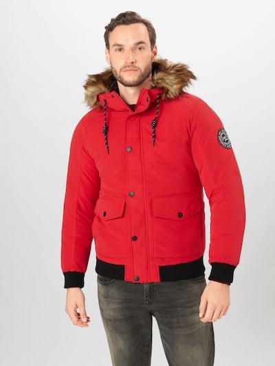 JACK & JONES Winterjas in de kleur Rood / Zwart: Vooraanzicht