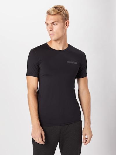 Calvin Klein Performance Tehnička sportska majica u crna: Prednji pogled