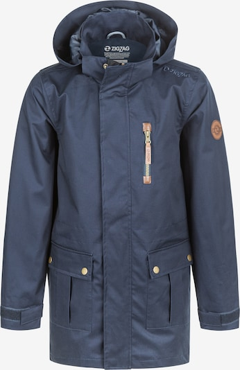 ZigZag Parka FISHER COTTON JACKET in blau, Produktansicht