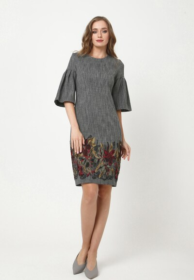 Madam-T Kleid 'DEGA' in grau, Modelansicht