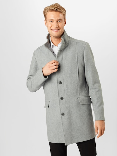 SELECTED HOMME Płaszcz przejściowy 'MORRISON' w kolorze jasnoszary / nakrapiany szarym, Podgląd na modelu(-ce)