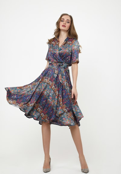 Madam-T Sommerkleid 'JODY' in blau / rot, Modelansicht
