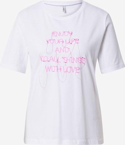 ONLY T-Shirt 'CHLOE' in neonpink / weiß, Produktansicht