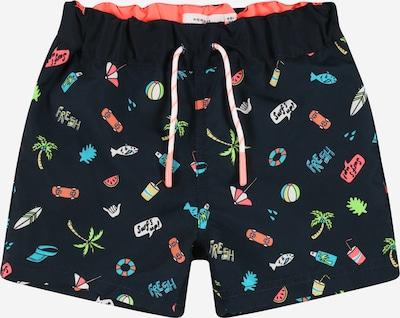 Pantaloncini da bagno NAME IT di colore navy / blu chiaro / colori misti, Visualizzazione prodotti