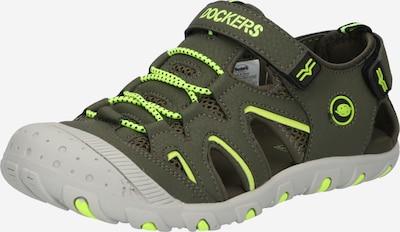 Dockers by Gerli Sandale in kiwi / dunkelgrün, Produktansicht