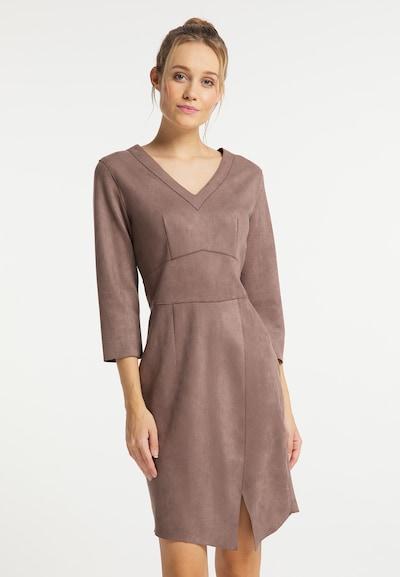DreiMaster Vintage Kleid in taupe, Modelansicht