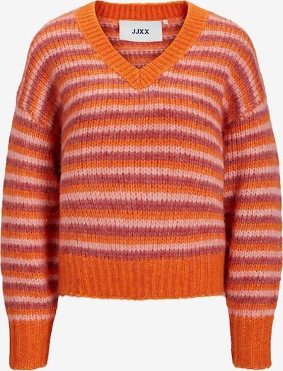 JJXX Pullover 'Xenia' in dunkelorange / rosa / pastellrot, Produktansicht