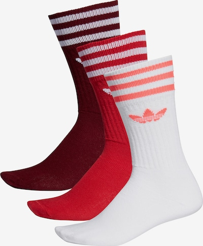 ADIDAS ORIGINALS Socken 'Solid Crew' in pink / bordeaux / weiß: Frontalansicht