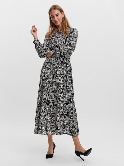 VERO MODA Kleid 'Vica' in schwarz / weiß, Modelansicht