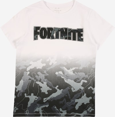 NAME IT Shirt 'FORTNITE' in grau / schwarz / weiß, Produktansicht