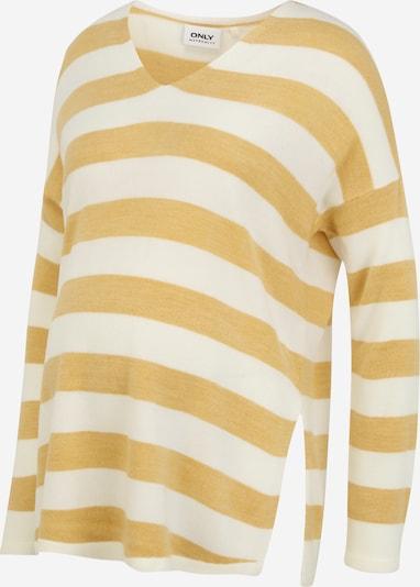 Only Maternity Sweter 'MALIA' w kolorze trzcina / białym, Podgląd produktu