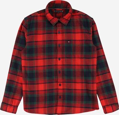 TOMMY HILFIGER Košulja u mornarsko plava / tamno zelena / crvena, Pregled proizvoda