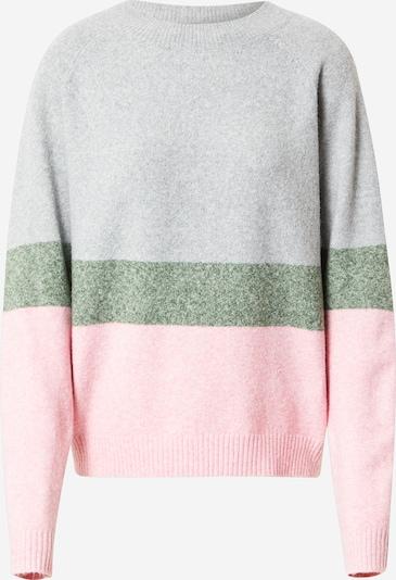 VERO MODA Пуловер 'VMDOFFY' в светлосиво / зелен меланж / розов меланж, Преглед на продукта