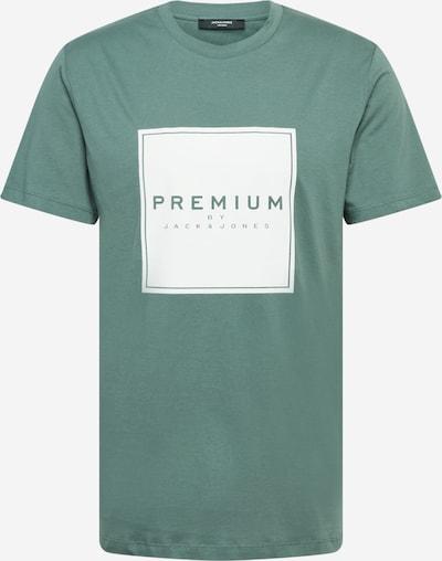 JACK & JONES Тениска в пастелно зелено / бяло: Изглед отпред