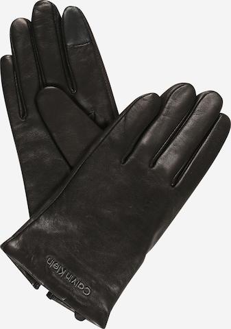 Calvin Klein Full finger gloves in Black