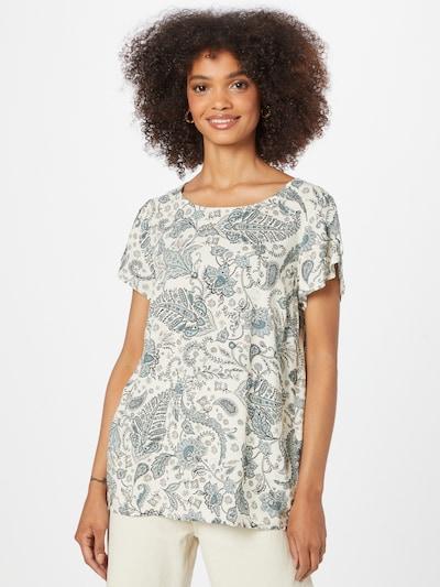 Soyaconcept Bluse 'SAMMY' in opal / pastellblau / schwarz / weiß, Modelansicht