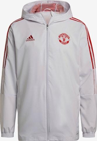 ADIDAS PERFORMANCE Sportjacke 'Manchester United Tiro' in Weiß