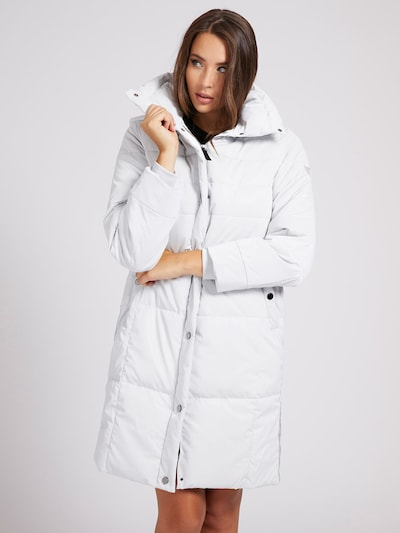 GUESS Mantel in hellgrau / naturweiß, Modelansicht