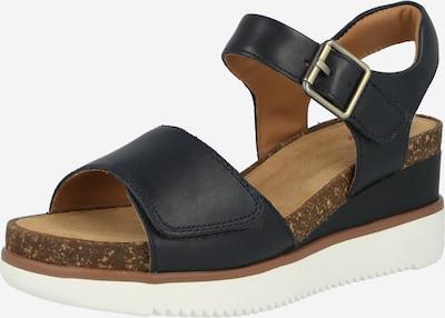 CLARKS Sandale 'Lizby' in dunkelblau / weiß, Produktansicht