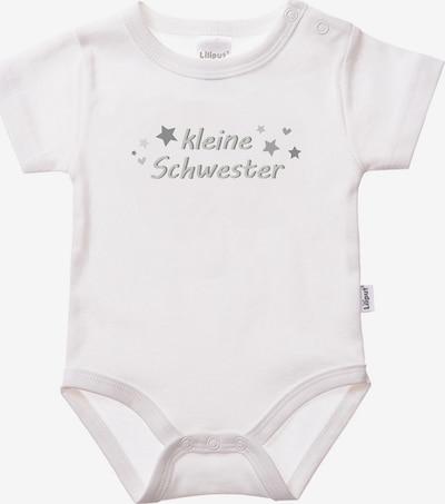LILIPUT Romper/Bodysuit 'Kleine Schwester' in Light grey / White, Item view