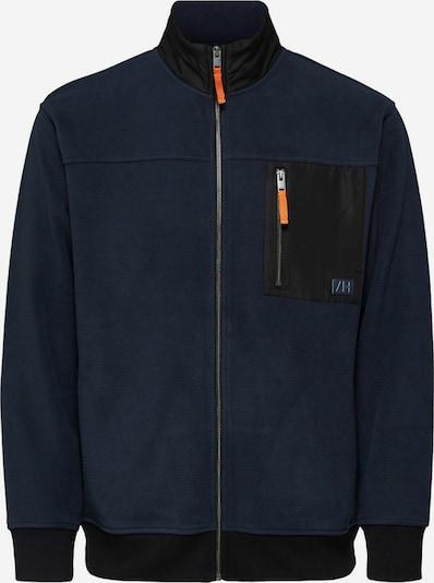 SELECTED HOMME Fleece jas in de kleur Donkerblauw / Zwart, Productweergave