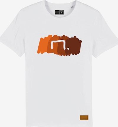 Bolzplatzkind T-Shirt in orange / weiß, Produktansicht
