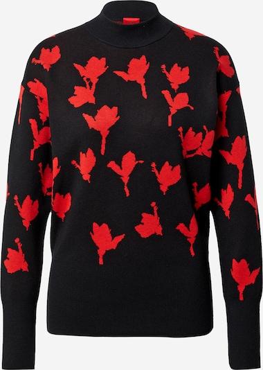 HUGO Pullover 'Stefanya' in rot / schwarz, Produktansicht