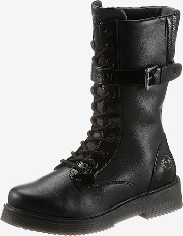 bugatti Lace-Up Ankle Boots in Black