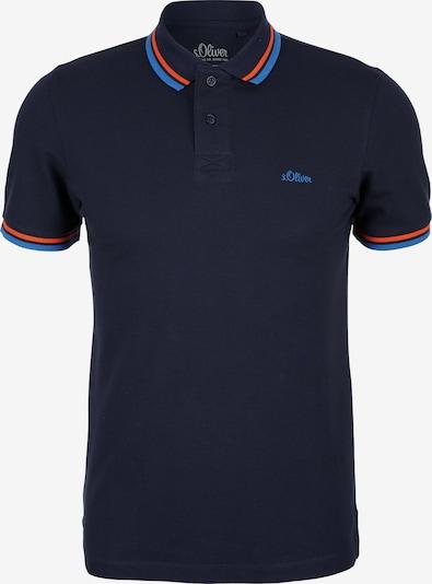 s.Oliver Poloshirt in marine / himmelblau / orange, Produktansicht
