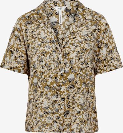 OBJECT Bluse 'Azza Sigrid' in beige / grau / khaki / schwarz, Produktansicht