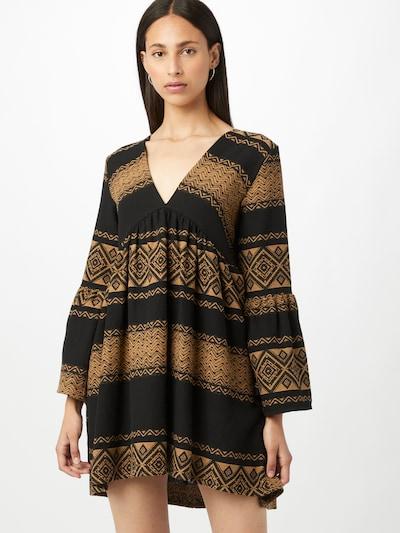 Liebesglück Kleid 'Nola' in hellbraun / schwarz, Modelansicht