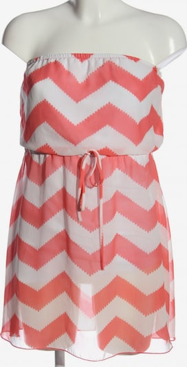 Charlotte Russe schulterfreies Kleid in S in pink / weiß, Produktansicht