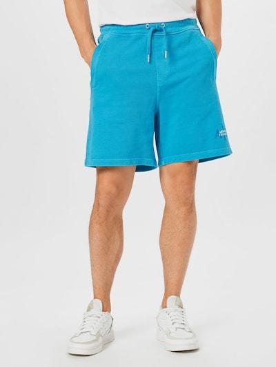 ARMANI EXCHANGE Bikses zils / tirkīza / balts, Modeļa skats