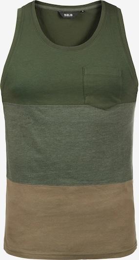 !Solid Tanktop 'Minho' in beige / grün / khaki, Produktansicht