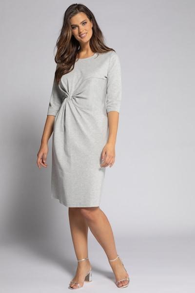 Ulla Popken Kleid in hellgrau, Modelansicht