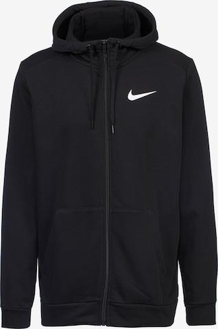 NIKE Αθλητική ζακέτα φούτερ σε μαύρο