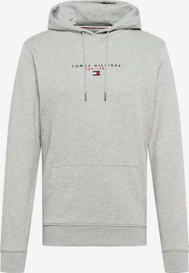 TOMMY HILFIGER Sweatshirt in dunkelblau / graumeliert / melone / weiß, Produktansicht