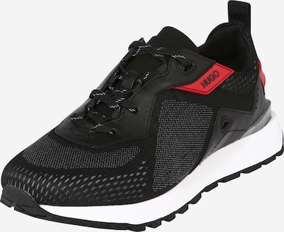 HUGO Ниски маратонки 'Cubite' в червено / черно, Преглед на продукта