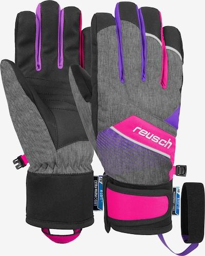 REUSCH Fingerhandschuhe 'Ferdi R-TEX® XT Junior' in pink / schwarzmeliert, Produktansicht