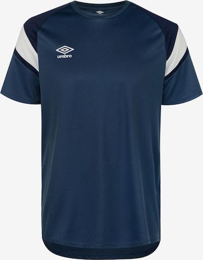 UMBRO Trainingsshirt in dunkelblau / weiß, Produktansicht
