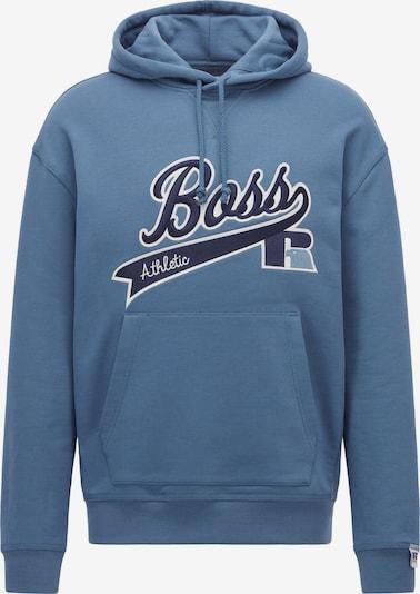 BOSS Sweatshirt 'Safa_Russell Athletic_3' in Blue, Item view