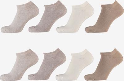 Apollo Socken in beige / weiß, Produktansicht