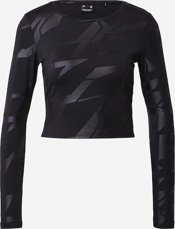 4F Sportshirt in Schwarz