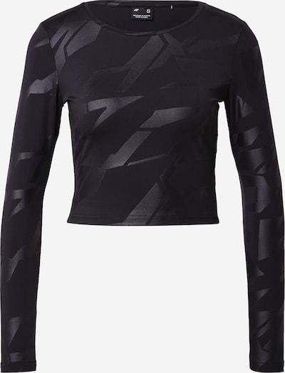 4F Sportshirt en noir, Vue avec produit