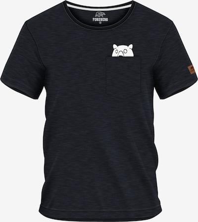 FORSBERG T-Shirt 'Ragnarson' in graumeliert / weiß, Produktansicht